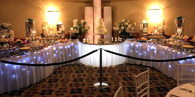 Our extremely famous desert table at the Grecian Center!