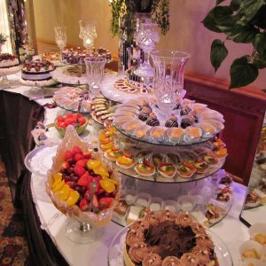 Combination Fruit and Desert Table